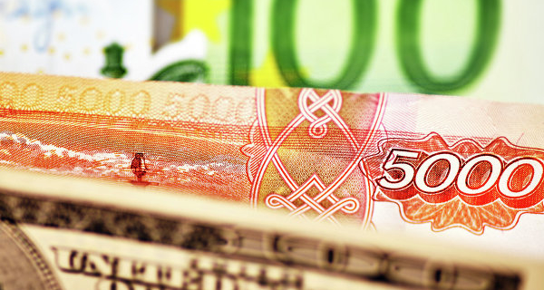 In the morning the ruble rose by 8 kopecks against the dollar and was down 16 cents to the Euro