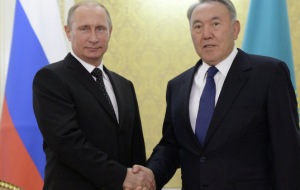 Putin holds a meeting with the head of Kazakhstan in his residence in Astana