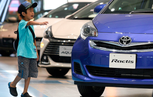 Toyota again became the world leader by sales of cars