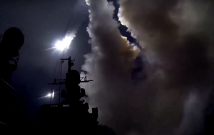 The Ministry of defence released video of the launch of the Caspian flotilla for Syria