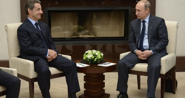 Putin told Sarkozy that he was glad to talk to him about world events