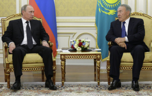 Putin and Nazarbayev discuss bilateral relations and the development of the EEU