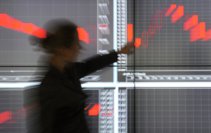 The shares declined amid weakening of the ruble and falling oil prices