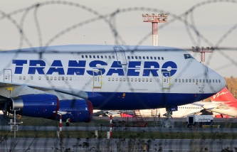 Shares of Transaero airlines in early trading on the Moscow exchange jumped to 34%