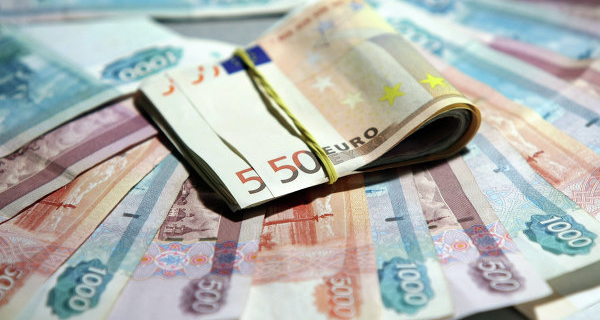 The Euro fell below 69 rubles for the first time since August 5