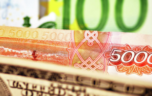 In the morning the ruble fell 13 kopecks against the dollar and 26 cents to the Euro
