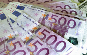 The Euro for the first time since August 10 fell below the 1.1 per dollar