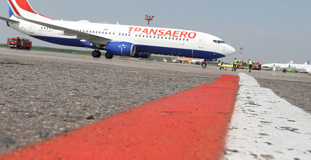 Shares of Transaero airlines fell by 22%