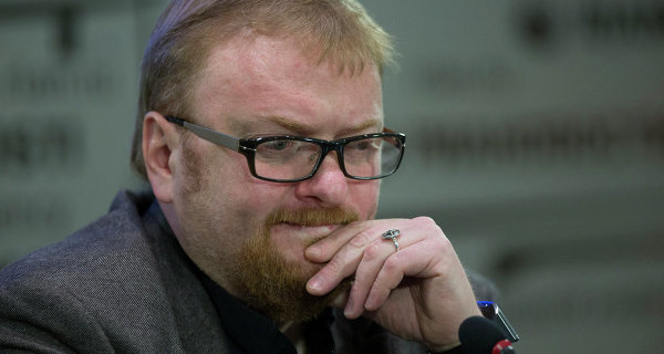 """Putin: Milonov was awarded the medal """"For merits before Fatherland"""""""