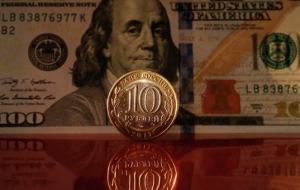 The ruble began the day up 16 cents to the dollar and the penny to the Euro
