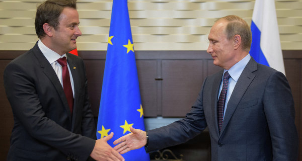 Putin intends to discuss with Bettel visit of the Duke of Luxembourg to Russia