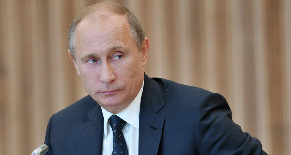 """Putin on the new """"Lada-Vesta"""" came to a meeting of the Valdai club"""