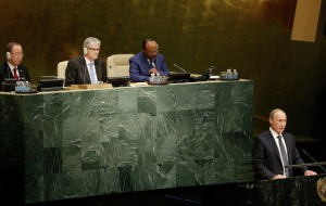 Vladimir Putin at the jubilee session of the UN General Assembly. Online report
