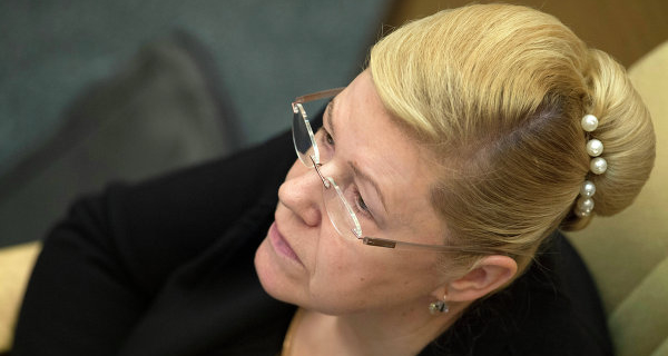 Mizulina became the Chairman of the constitutional Committee of the Federation Council
