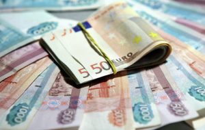 Rouble in the beginning of the day ROS was down 13 cents to the Euro