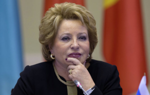Matvienko: Russia considers the sanctions illegal, so they are not discussing