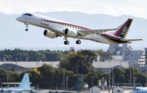 New Japanese aircraft MRJ-90 has successfully completed its first flight