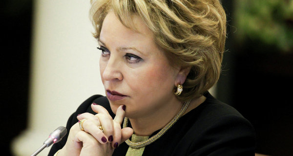 Matvienko has suggested to think of tax preferences for businesses in Russia.