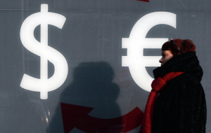 Dollar to Euro on increased demand for safe assets