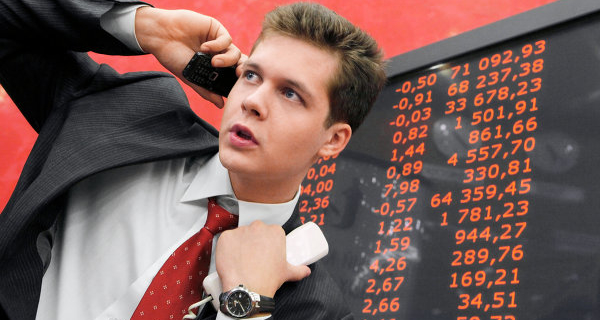 The Russian stock market opened lower by 0.2-1.2% of