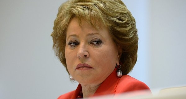 Matvienko has accepted an invitation to visit Syria