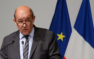 Le Drian: common threats require a joint effort from Russia and France