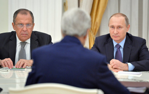 The meeting of Putin, Kerry and Lavrov, which lasted more than 3 hours, ended