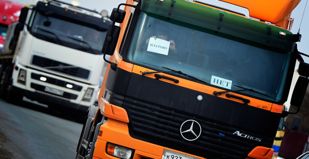 """Putin offered to cancel the transport tax for trucks because of the """"Plato"""""""