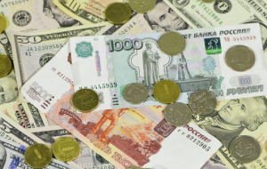 Weighted average dollar exchange rate fell by a penny be 13.42