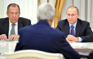 More than three hours, Putin and Kerry discussed Syria, Ukraine and the fight against terrorism