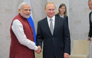 The leaders of Russia and India began talks in the Kremlin