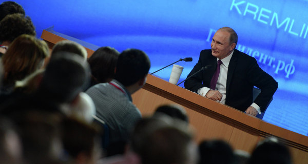 Almost 1.4 thousand journalists accredited to the press conference Putin