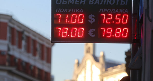 The ruble against the dollar fell because of the situation on the oil market