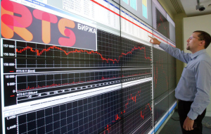 The stock market day is declining under pressure from weak oil and ruble