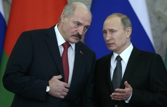 Putin and Lukashenko at the talks in Moscow will discuss security and migration