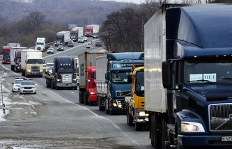 The Confederation of labour of Russia called on truck drivers to form a Union