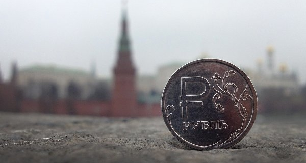 The ruble is declining moderately against the dollar and the Euro grows