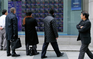 Japanese market sank in late trading on 1% on the news from North Korea