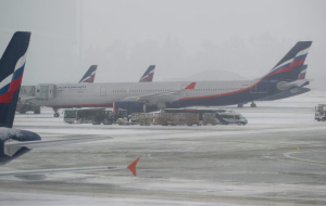 Aeroflot on Tuesday canceled 28 flights because of the snow and blizzards