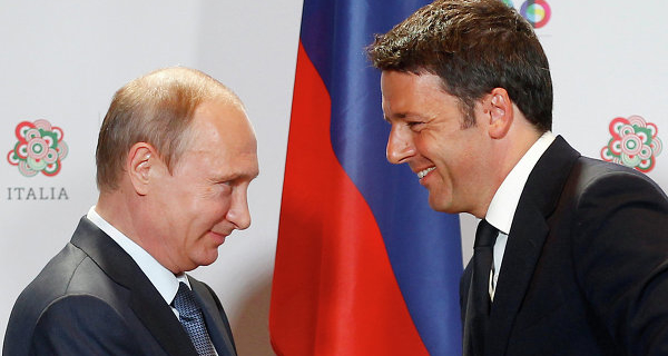 Putin and Renzi have confirmed the importance of joint work on energy projects