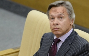 "Pushkov: it is foolish to declare that Russia ""has opposed itself to the whole world"""
