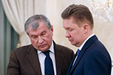 Sechin and Miller discussed cooperation in the oil and gas sector