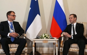 Medvedev: Russia and Finland intend to develop bilateral relations