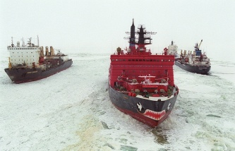 """The largest and most powerful in the world of the Russian nuclear icebreaker """"Arktika"""" will be launched in may"""