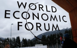 The Russian delegation at the forum in Davos – the economic bloc stayed home