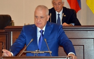 In North Ossetia held a farewell ceremony with the head of the Republic of Tamerlane Aguzarova
