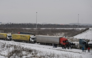 At the Belarusian-Lithuanian border in the queues are about 700 trucks