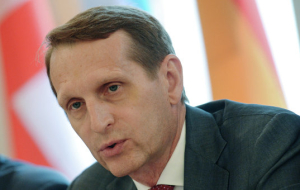 Naryshkin has condemned the selective application of international law