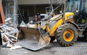 "In the center of Moscow began the demolition of the shopping center ""Pyramid"""