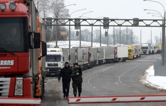 In Lithuania increased Queuing of trucks at the border with Kaliningrad region of the Russian Federation